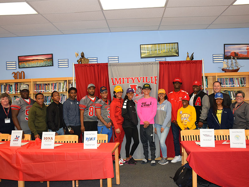 Amityville Athletes Commit to Their Sports