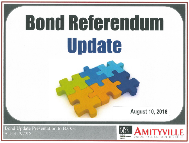 School Board, Public Receive Bond Update