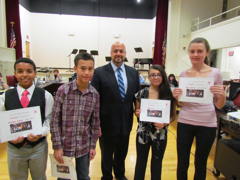 MS Recognizes First-Quarter Honor Roll Students