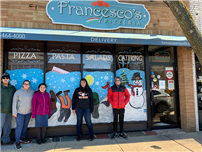 Students Decorate Amityville With Holiday Paintings photo